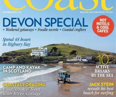 Coast Magazine October 2018 featuring artist Dan Pyne