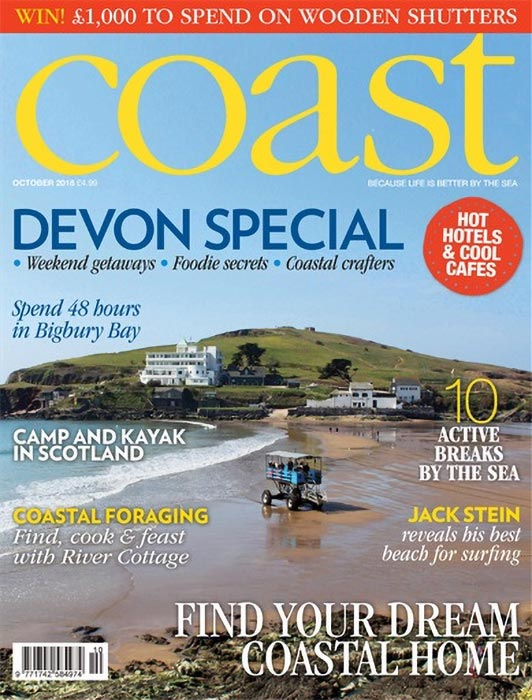 Coast Magazine October 2018 featuring artist Dan Pyne